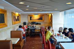 McDonald's restaurant interior Royalty Free Stock Images