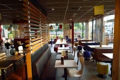 McDonald's restaurant interior Stock Photo