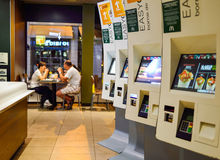 McDonald's restaurant interior Royalty Free Stock Image
