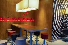 McDonald's restaurant interior Stock Photos
