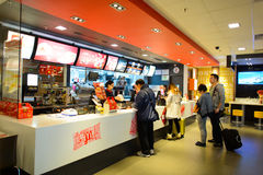 McDonald's restaurant interior Stock Image