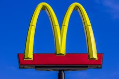Indianapolis - Circa October 2017: McDonald`s Restaurant Location. McDonald`s is a Chain of Hamburger Restaurants XIX. McDonald`s Restaurant Location. McDonald`s Stock Images
