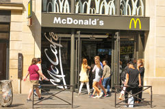 McDonald's restaurant in Paris Stock Image
