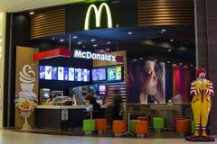 McDonald's restaurant in Siam Paragon Mall.  Bangkok. Thailand. BANGKOK,THAILAND - NOVEMBER 19, 2013 : Front view of McDonald's restaurant in Siam Paragon Mall Royalty Free Stock Photography