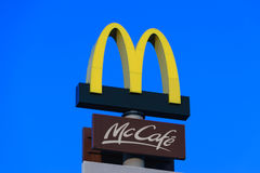 McDonald`s Restaurant sign Royalty Free Stock Images