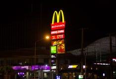 McDonald ` s restauraunt bij Meechok-Plein Royalty-vrije Stock Foto's