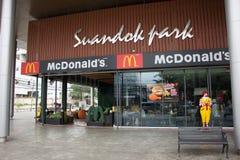 McDonald ` s restauraunt in Suandok-Park Stock Foto