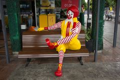 McDonald ` s restauraunt in Suandok-Park Stock Afbeeldingen