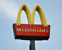 McDonald's sign Royalty Free Stock Photography