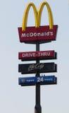 McDonald's signage Stock Photo