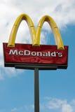 mcdonald s tecken Arkivbild