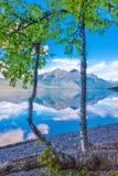 McDonald sjö, glaciärnationalpark, Montana, USA Royaltyfri Foto