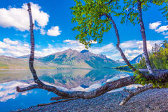 McDonald sjö, glaciärnationalpark, Montana, USA Royaltyfri Bild