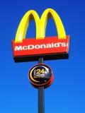 mcdonald znak s Zdjęcia Royalty Free