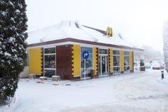 Mcdonaldrestaurant Royalty-vrije Stock Foto