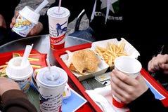 McDonalds汉堡菜单 库存照片
