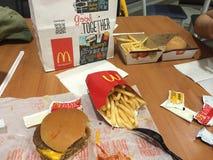 McDonalds的菜单 库存照片
