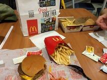 McDonalds的菜单 免版税库存图片