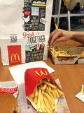 McDonalds的菜单 免版税库存照片