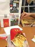 McDonalds的菜单 库存图片
