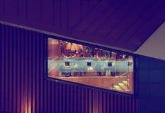 McDonalds餐馆窗口在基辅 图库摄影
