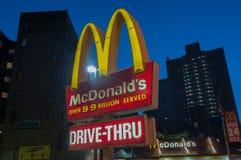 McDonalds餐馆- NYC 免版税库存图片