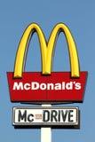 mcdonalds σημάδι Στοκ εικόνα με δικαίωμα ελεύθερης χρήσης