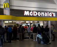 McDonalds  at the airport Royalty Free Stock Images