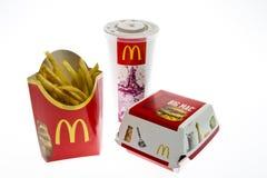 McDonalds Big Mac Menu Stock Photography