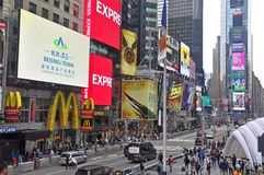 McDonalds in Times Square in New York City. McDonalds and billboards in the busy Times Square, New York City, USA royalty free stock photo