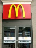 McDonalds Door and Entrance. The entrance to a McDonalds restaurant stock photography