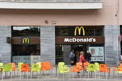 McDonalds em Barcelona Foto de Stock Royalty Free