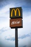 McDonalds et McCafe se connecte le courrier Photographie stock libre de droits