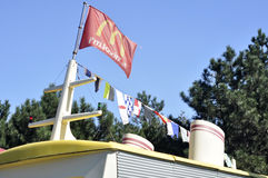 McDonalds flag and ship Stock Images