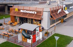 McDonalds at Frydek royalty free stock photo