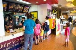 McDonalds. Inside McDonald fastfood restaurant' Taken in Thailand Royalty Free Stock Photos