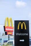 Mcdonalds logotecken Fotografering för Bildbyråer