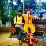 Mcdonalds mascot. This photo is taken by me Royalty Free Stock Image