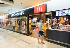 McDonalds in MBK-Einkaufszentrum, Bangkok stockbild