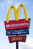 сгабривает золотистый ресторан mcdonalds mccafe Стоковая Фотография