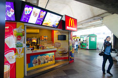 McDonalds. McDonald fastfood restaurant' Taken in Thailand Royalty Free Stock Images