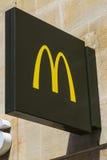 Mcdonalds restauraci znak Fotografia Stock