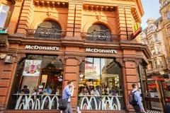 McDonalds restaurant. McDonalds fast food restaurant in London, Uk, England Royalty Free Stock Images