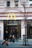 McDonalds Restaurant in Gediminas Avenue, Vilnius, Lithuania Stock Photography