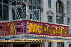 McDonalds. Restaurant in New York city Royalty Free Stock Photos