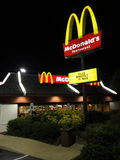 McDonalds Restaurant at Night Royalty Free Stock Photography