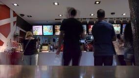 Mcdonalds restaurant time lapse stock footage
