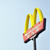McDonalds sign stock photos