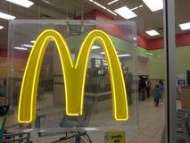 McDonalds store. Photo taken inside Wallmart store stock photography