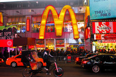 McDonalds Times Square, Manhattan, NYC. Stock Image